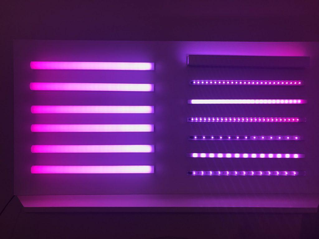 Hot Pink to Light Pink RGBW 30 Digital Strip Tape Gradient Effect
