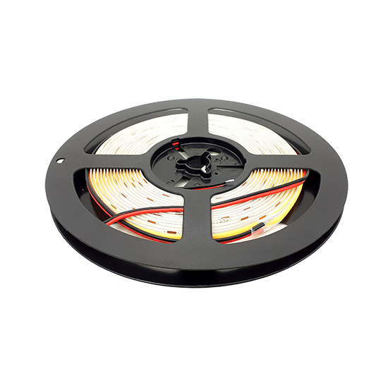 3000K seamless COB LED strip light 5m reel. 24V