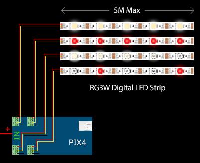 Pix4 Pixel LED Control Setup