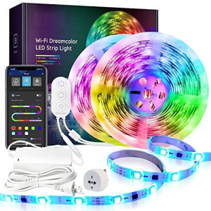 10M (2 x 5M) Wireless Smart Phone Wifi Dream Colour LED Strip Light Kit
