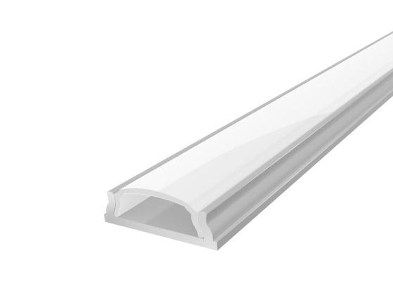 Slim Bendable Profile 18mm Silver Finish & Opal Cover (1M)