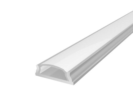 Slim Bendable Profile 18mm Silver Finish & Semi Clear Cover (1M)