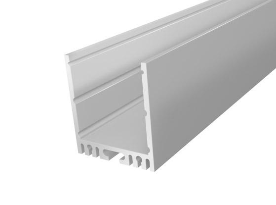 2M Large Square Aluminium Extrusion 35mm For flexible LED Tape Lights Silver Finish