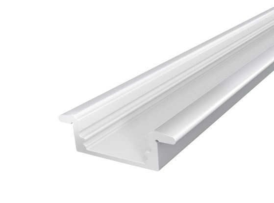 2M Slim Aluminium Extrusion 17mm for Recessed Application Silver Finish