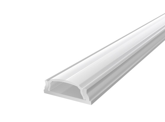 Slim Bendable Profile 18mm Silver Finish & Clear Cover (1M)