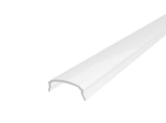 Slim Bendable Profile 18mm White Finish & Semi Clear Cover (2M)