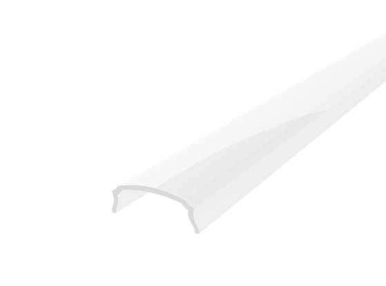 Slim Bendable Profile 18mm White Finish & Opal Cover (2M)