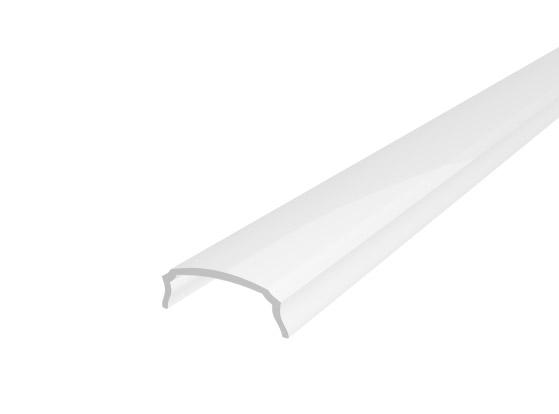 Slim Bendable Profile 18mm White Finish & Semi Clear Cover (1M)