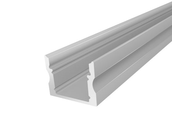 Silver Deep Surface Aluminium Channel 17mm 2M for flexible LED Tape