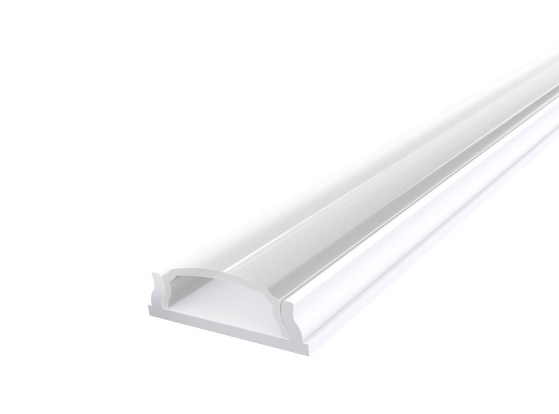 Slim Bendable Profile 18mm White Finish & Clear Cover (2M)