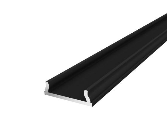 Slim Bendable Profile 18mm Black Finish & Semi Clear Cover (1M)