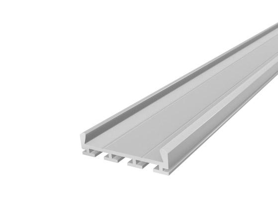 Deep Square Profile 26mm Silver Finish & Semi Clear Cover (1M)