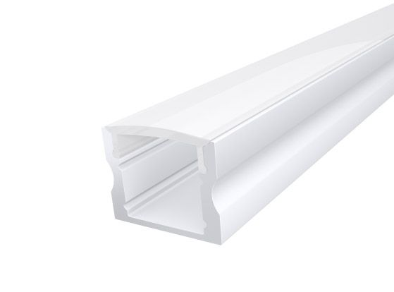 Deep Surface Profile 17mm White Finish & Semi Clear Cover (1M)