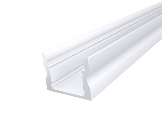 Deep Surface Profile 17mm White Finish & Clear Cover (1M)