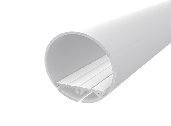 Rounded Profile 30mm White Finish & Clear Diffuser (1M)