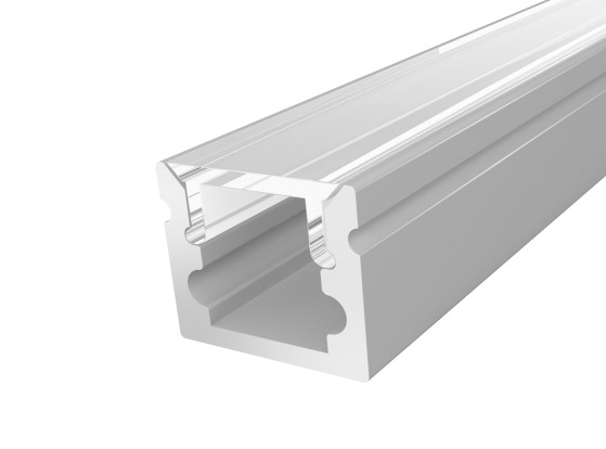 Micro Surface Profile 10mm Silver Finish & Clear Cover (1M)