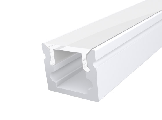 Micro Surface Profile 10mm White Finish & Opal Cover (1M)
