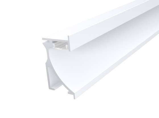 Skirting Profile 70mm White Finish & Clear Cover (1M)