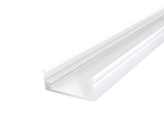 Slim Surface Profile 17mm White Finish & Semi Clear Cover (1M)