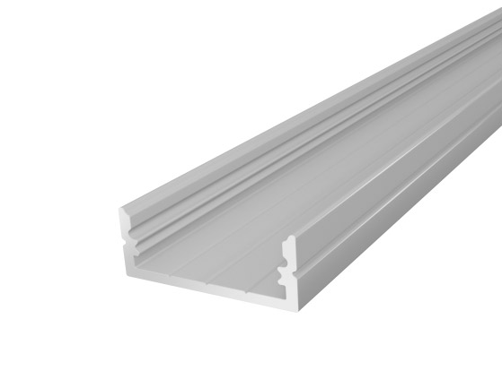 Wide Surface Profile 24mm Silver Finish & Clear Cover (1M)