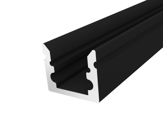 Micro Surface Profile 10mm Black Finish & Clear Cover (2M)
