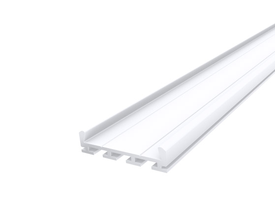 Deep Square Profile 26mm White Finish & Clear Cover (2M)