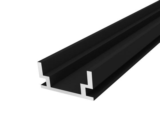 IP65 Walkover Profile 19mm Black Finish & Semi Clear Cover (2M)