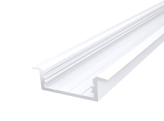 Slim Recessed Profile 23mm White Finish & Semi Clear Cover (2M)