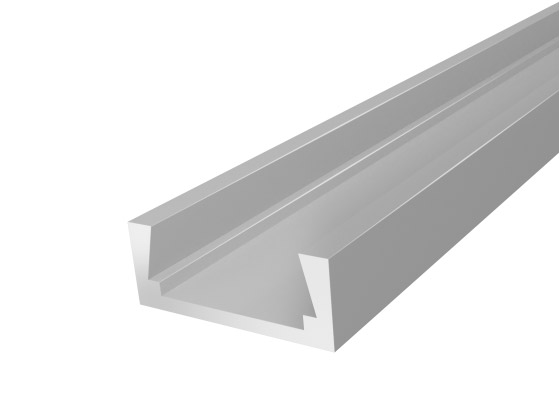 Slim Surface Profile 15mm Silver Finish & Opal Cover (2M)