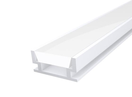 IP65 Walkover Profile 19mm White Finish & Semi Clear Cover (2M)