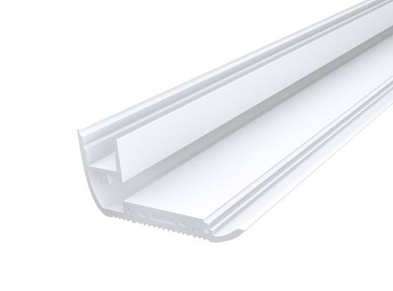 Stair Nosing Profile 65mm White Finish & Semi Clear Cover (1M)