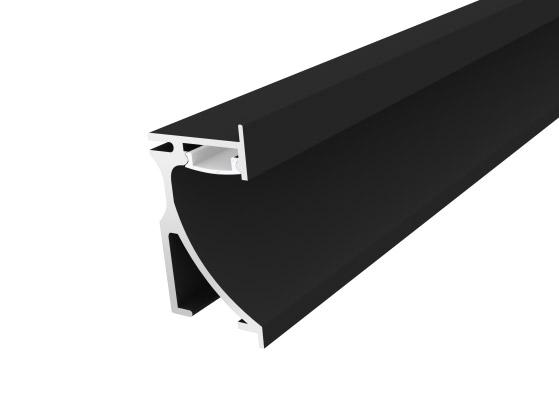 Skirting Profile 70mm Black Finish & Opal Cover (1M)
