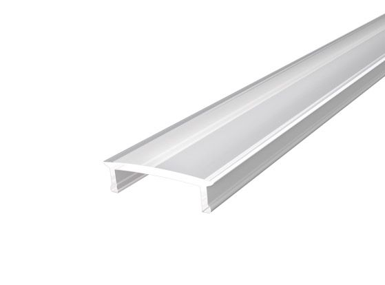 Slim Surface Profile 17mm Silver Finish & Clear Cover (2M)