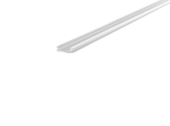 Skirting Profile 70mm Silver Finish & Clear Cover (1M)