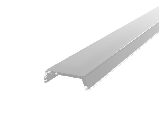 Slim Recessed Profile 15mm Silver Finish & Clear Cover (1M)