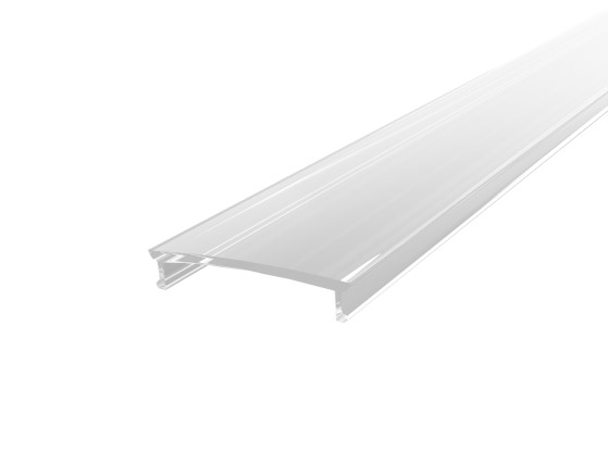 Wide Surface Profile 24mm White Finish & Clear Cover (2M)
