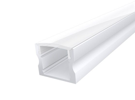 Deep Surface Profile 17mm White Finish & Opal Cover (1M)
