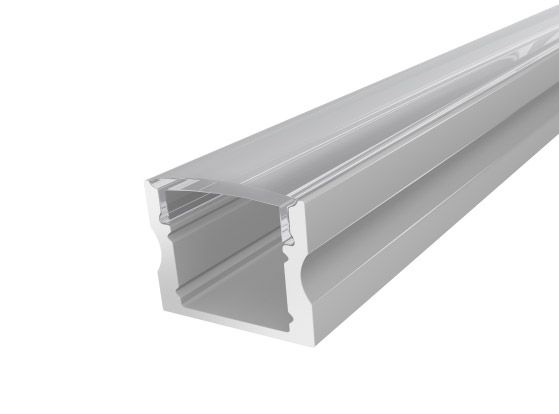 Deep Surface Profile 17mm Silver Finish & Clear Cover (1M)
