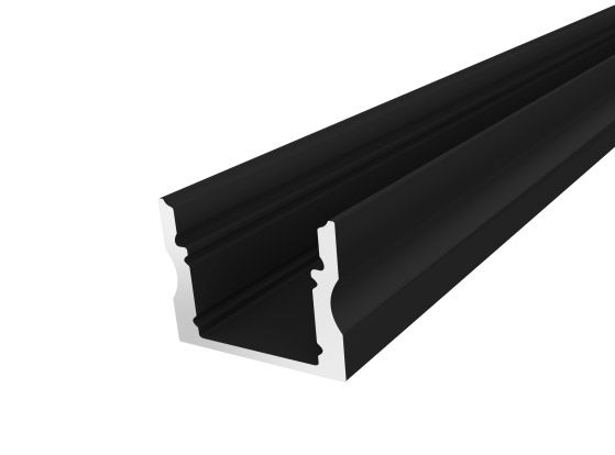 Deep Surface Profile 17mm Black Finish & Semi Clear Cover (1M)