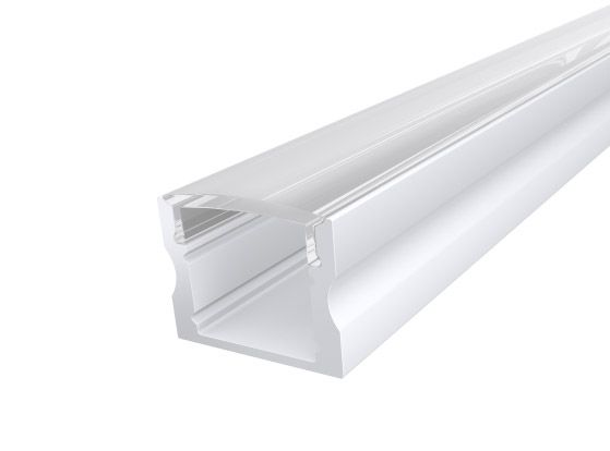 Deep Surface Profile 17mm White Finish & Clear Cover (2M)