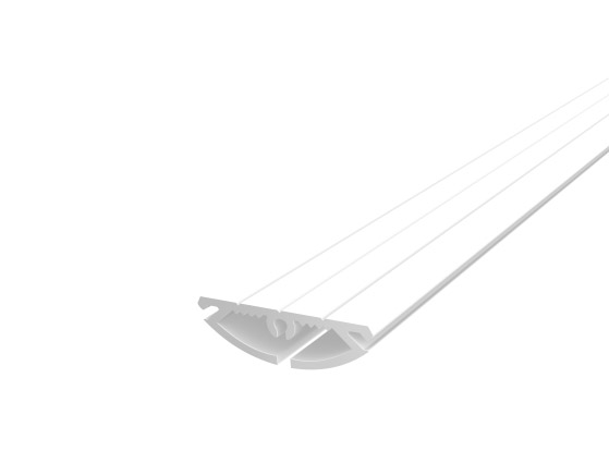 Rounded Profile 30mm White Finish & Clear Diffuser (2M)