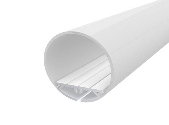 Rounded Profile 30mm White Finish & Semi Clear Diffuser (2M)