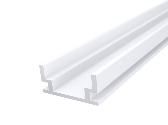 IP65 Walkover Profile 19mm White Finish & Clear Cover (1M)
