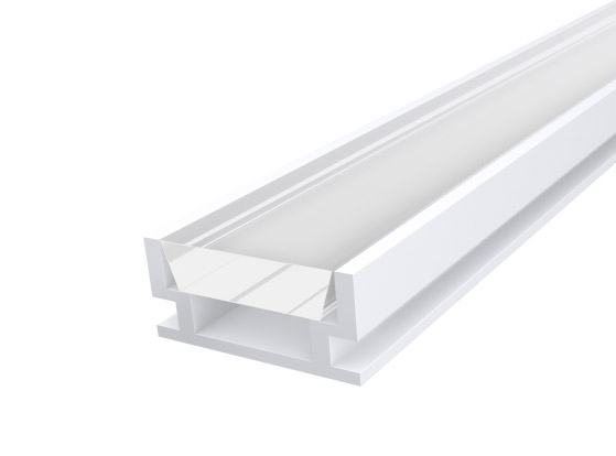 IP65 Walkover Profile 19mm White Finish & Clear Cover (2M)
