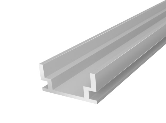 IP65 Walkover Profile 19mm Silver Finish & Clear Cover (1M)