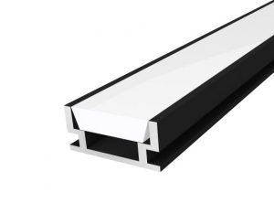 IP65 Walkover Profile 19mm Black Finish & Semi Clear Cover (1M)