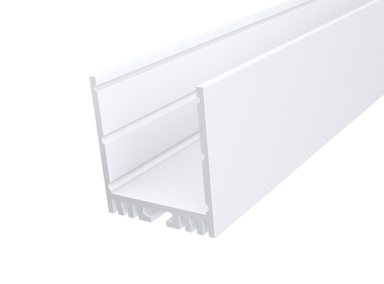Large Square Profile 35mm White Finish & Semi Clear Cover (2M)