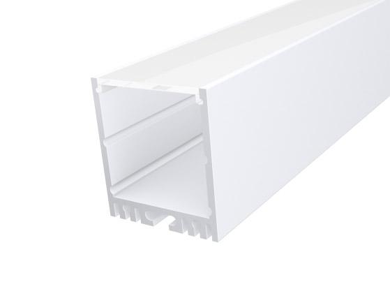 Large Square Profile 35mm White Finish & Semi Clear Cover (1M)