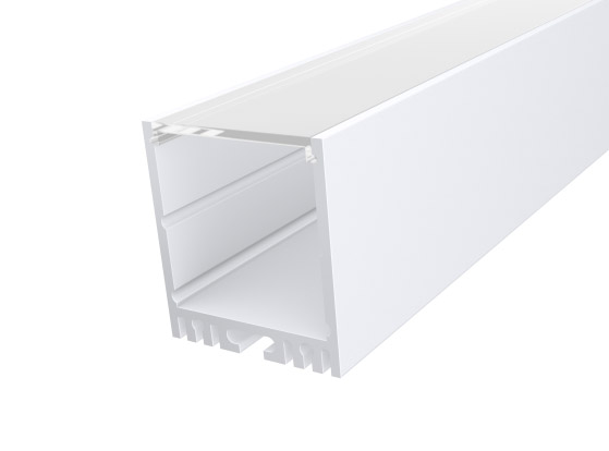 Large Square Profile 35mm White Finish & Clear Cover (2M)