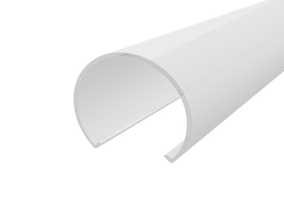 Light Frosted Diffuser for Flat Rounded LED Aluminium 30mm 2M finished in White